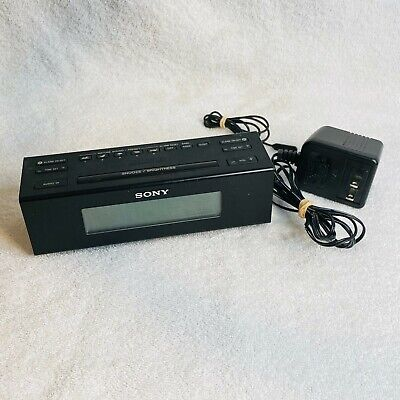 Sony AM/FM Dual Alarm Clock Radio with Aux Cable ICF-C707 Nature Sounds Tested