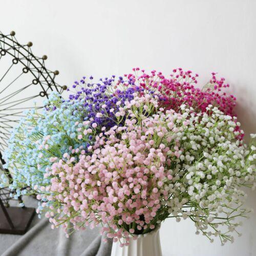 Home Decoration - Artificial Fake Silk Gypsophila Baby's Breath Flower Wedding Bouquet Home Decor