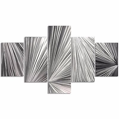 Huge Abstract Metal Art Silver Decor Modern Wall Sculpture Contemporary Artwork