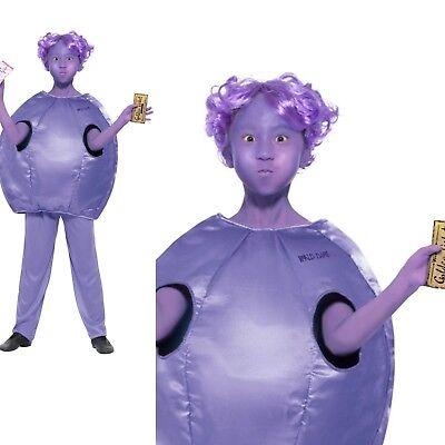 Kids Official Violet Beauregarde Willy Wonka Fancy Dress Costume Book Week - Willy Wonka Female Costume
