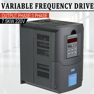 10hp 7.5kw Variable Frequency Drive Inverter Vfd Single Phase To 3 Phase 220v