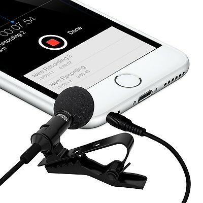 ❤❤❤ Lavalier Clip-on Lapel Omnidirectional Condenser Microphone For SmartPhone