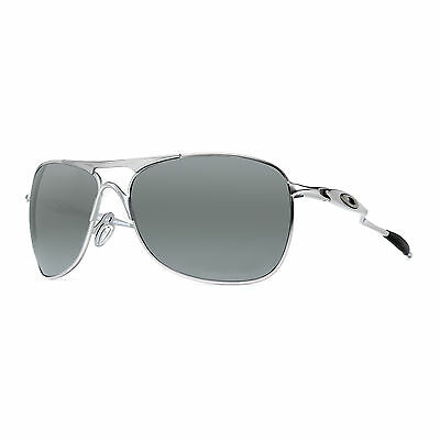 Oakley Crosshair OO4060-06 Matte Lead/Black Iridium Polarized Aviator Sunglasses