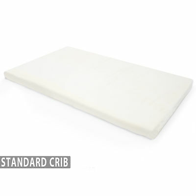 Memory Foam Crib Mattress Topper with Waterproof Cover