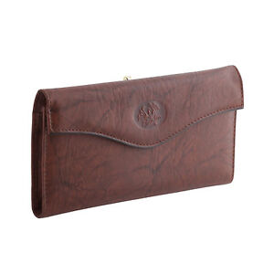 Buxton Womens Genuine Leather Heiress Organizer Clutch -Girls Frame Wallet