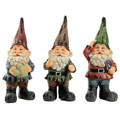 Garden Gnome Traditional Large 39cm Ornament / Outdoor Statue ()