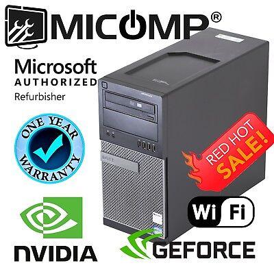 Fast Dell Gaming Computer PC Nvidia GTx 1050 GPU 8Gb 500GB Windows 10 HDMI WiFi
