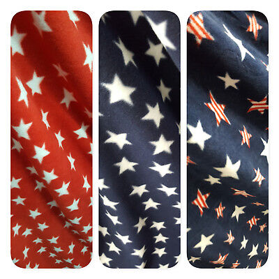 - PATRIOTIC STARS Print Fleece Fabric 60
