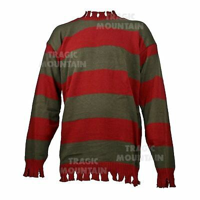 Top Men Halloween Costumes (Adult Mens Nightmare On Elm Freddy Kruger Halloween Costume Striped Sweater)