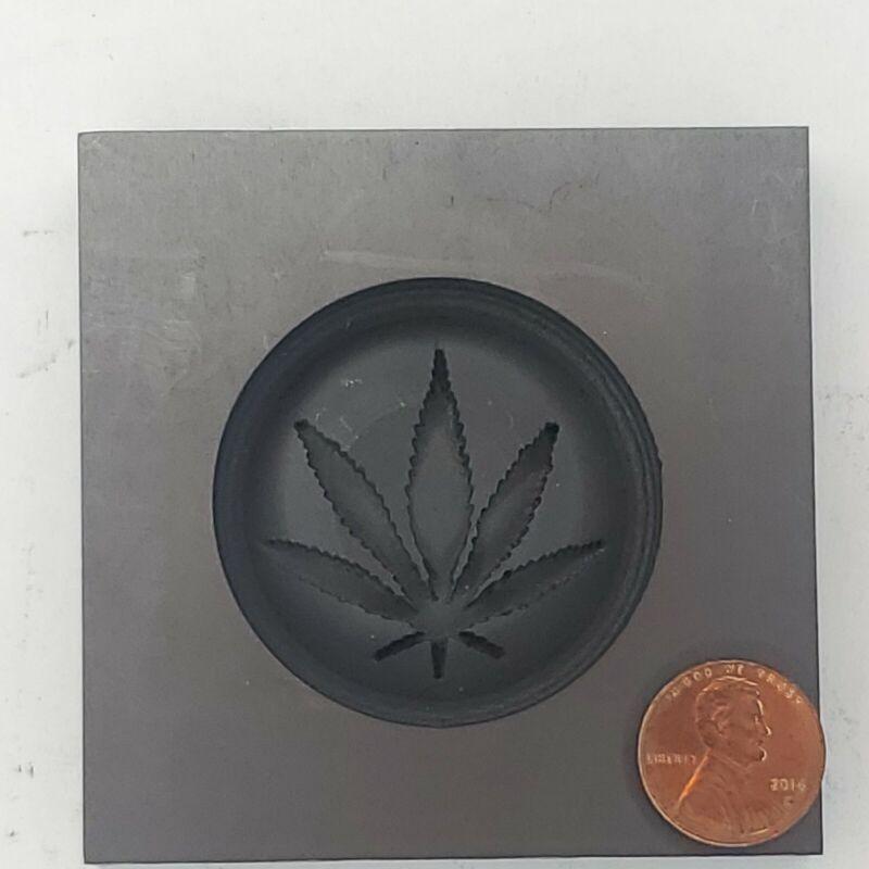 Pot Leaf 3D Graphite Ingot Mold for Casting Gold Silver Copper Tin Pewter Metal