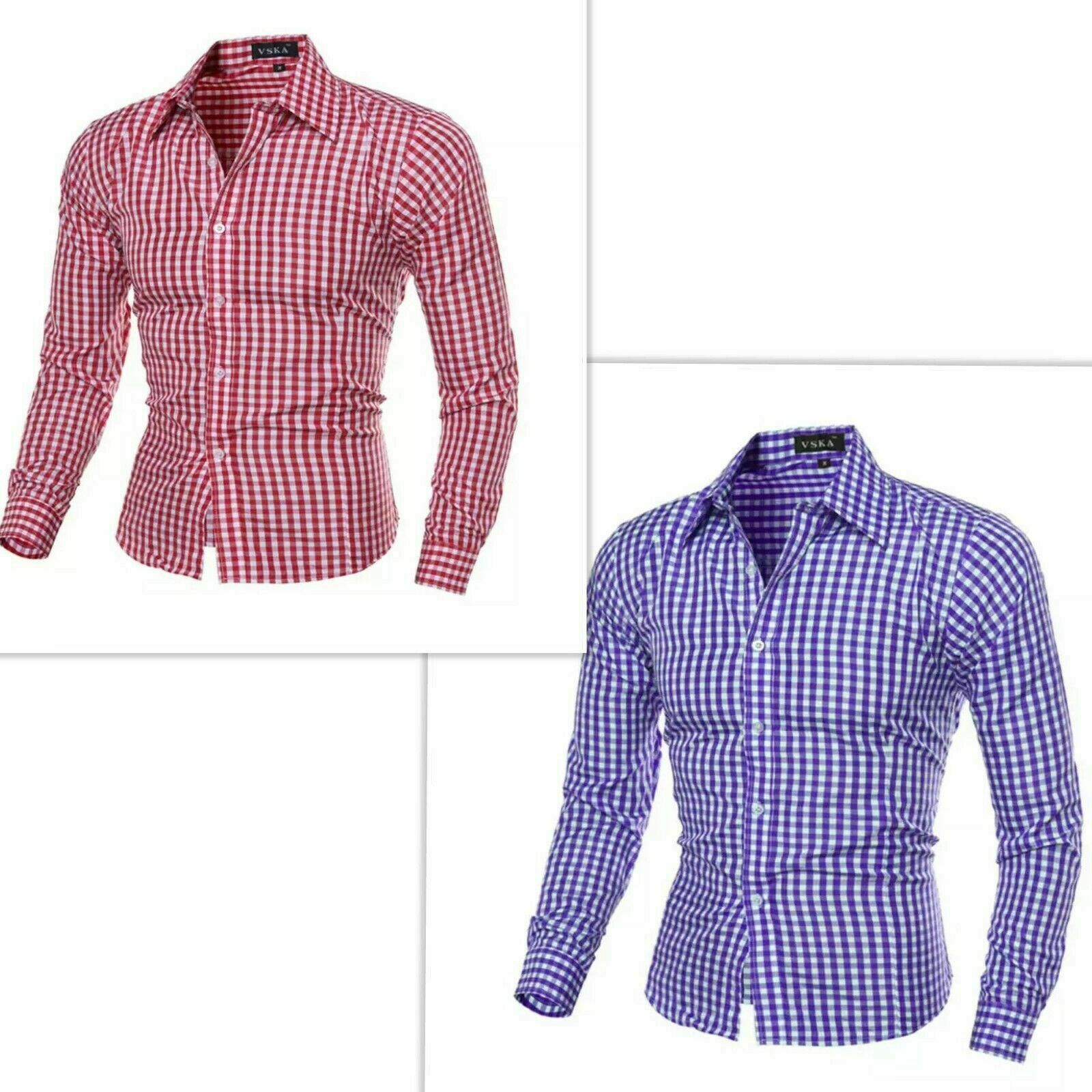 Kariertes Trachtenhemd für Trachtenlederhosen  Hemd Hemden Oktoberfest S-3XL DE