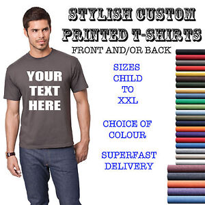 YOUR-CUSTOM-TEXT-ON-A-T-SHIRT-ADULT-KIDS-STAG-HOLIDAY-TEE-PERSONALISED