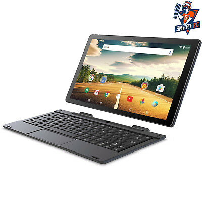 "Smartab ST1009X 2-in-1 Tablet 10.1"" 1GB 32GB HDD w/ keyboard Android 7.0, Black"