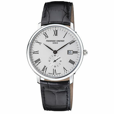 Frederique Constant Slimline Quartz Movement White Dial Men's Watch FC-245WR5S6