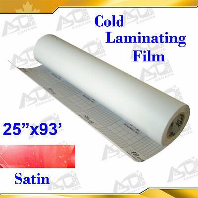 Intbuying Cold Laminating Film 0.69x31yard Sain Matt Paper Adhesive Glue Vinyl