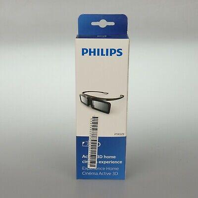 Philips PTA 529 Schwarz Aktive 3D-Brille TV (57/147) - Neu