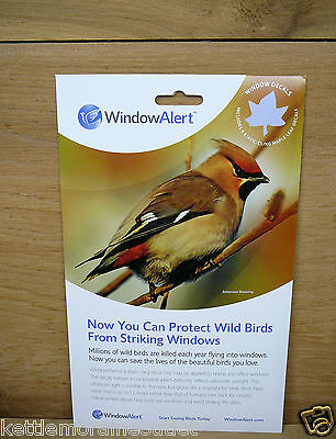 Window Alert Bird - Window Alert 4 Maple Leaf  Decals Protect Wild Birds