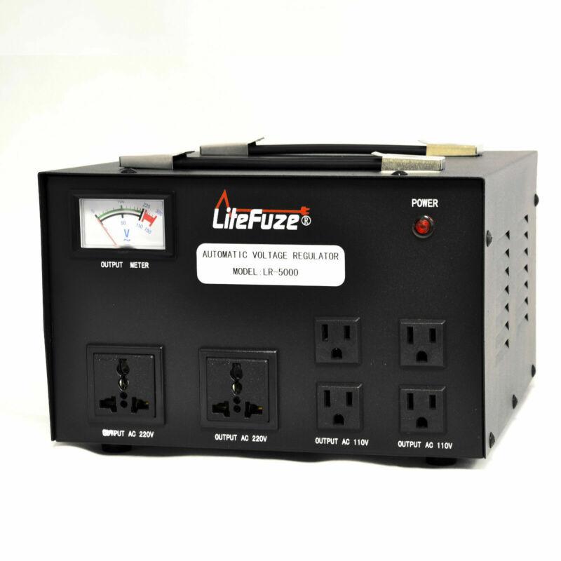 LiteFuze 5000 W Watt Step Up/Down Voltage Regulator Converter Transformer