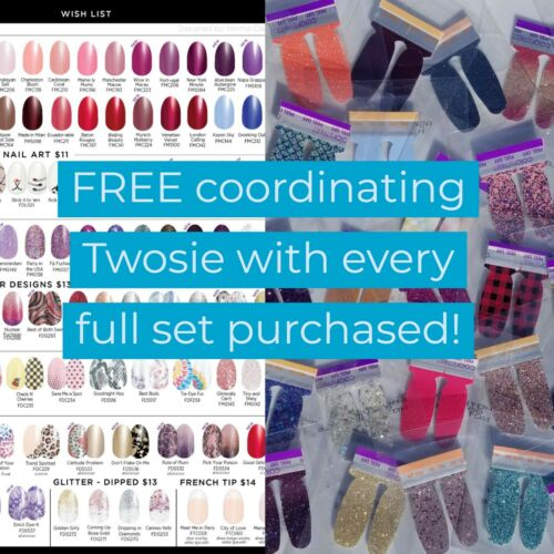 Color Street Nail Polish with FREE TWOSIE accent nails and QUICK SHIP!
