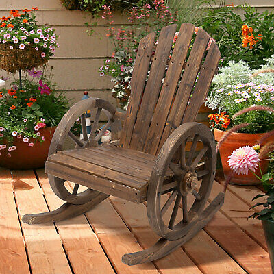 Outsunny Adirondack Rocking Chair Porch Poolside Garden Lounging Adirondack Rocking Chair