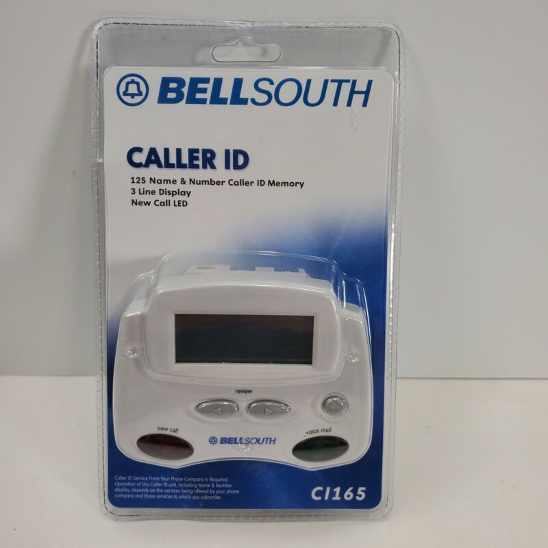 BellSouth Caller ID CI-165 3 Line Display 99 Name Number Memory Real Time Clock