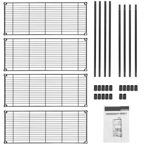 4 Tier Steel Wire Shelf Rack Heavy Duty Storage Shelving Unit for Kitchen Pantry Home & Garden