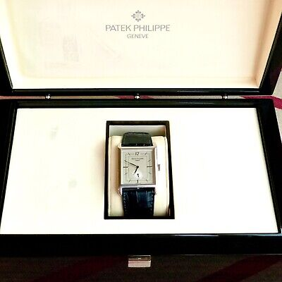 Patek Philippe Gondolo Platinum Mens Watch With Pin Buckle 5109P Ultra Rare