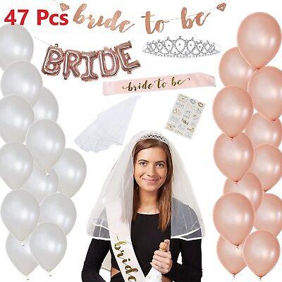Rose Gold Bachelorette Party Decorations Kit For Bachelorette Bridal Party 47 PC (Bachelorette Party Kit)