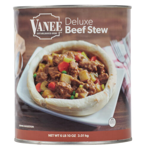 (#10 Can) Bulk Wholesale Deluxe Canned Beef Stew - Made in USA