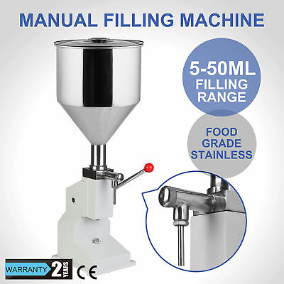 Liquid Filling Machine Manual Bottling Bottle Paste Filler Stainless Steel 5-50g