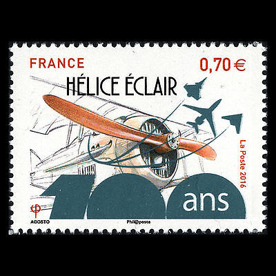FRANCE 2016 - 100TH ANNIV ECLAIR PROPELLER COMPANY AVIATION AIRPLANE - MNH