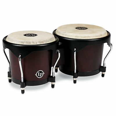 Latin Percussion LP City Series Wood Bongos Dark Wood