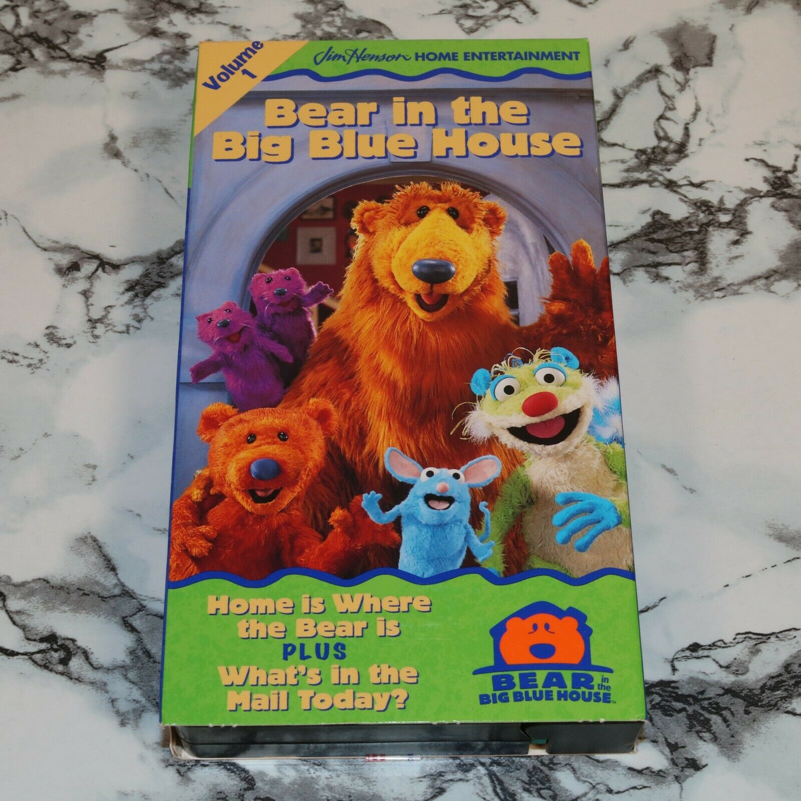 Bear In The Big Blue House - Volume 1 One -- VHS TAPE, 1998 -- Jim Henson - $12.68