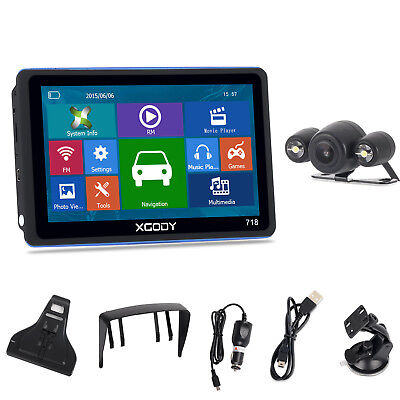"XGODY 7"" Portable GPS Navigation 8GB wireless Backup Camera Lane Assist 3D Map"