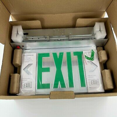 Lithonia Lighting Edgr 2 Gmr El Exit Signgreen Letterled