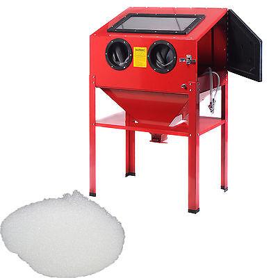Sandstrahlgerät Sandstrahlkabine Sandstrahler 220L+GRATIS 25kg Glasgranulat!