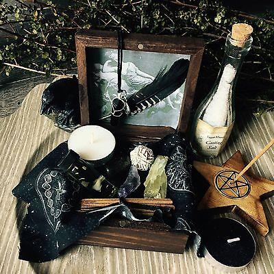 Witch Box Wicca Pagan Goddess Trinket box Altar Supplies Spell Kit