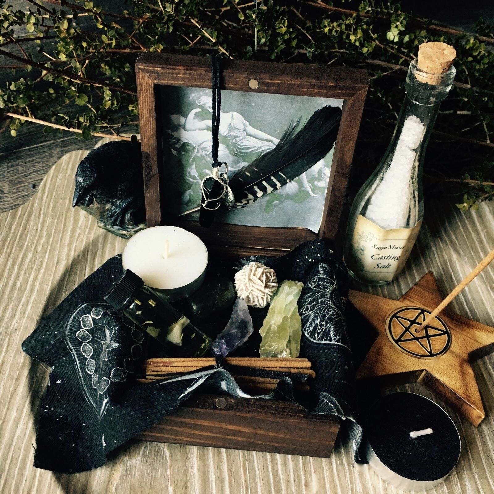 Witch Box Wicca Pagan Goddess Trinket box Altar Supplies Spell Kit ©SugarMuses