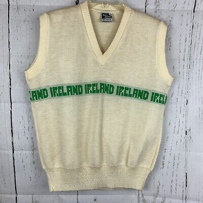 Vtg. Sweater Vest Ireland Irish St Pats Silver Strand 44