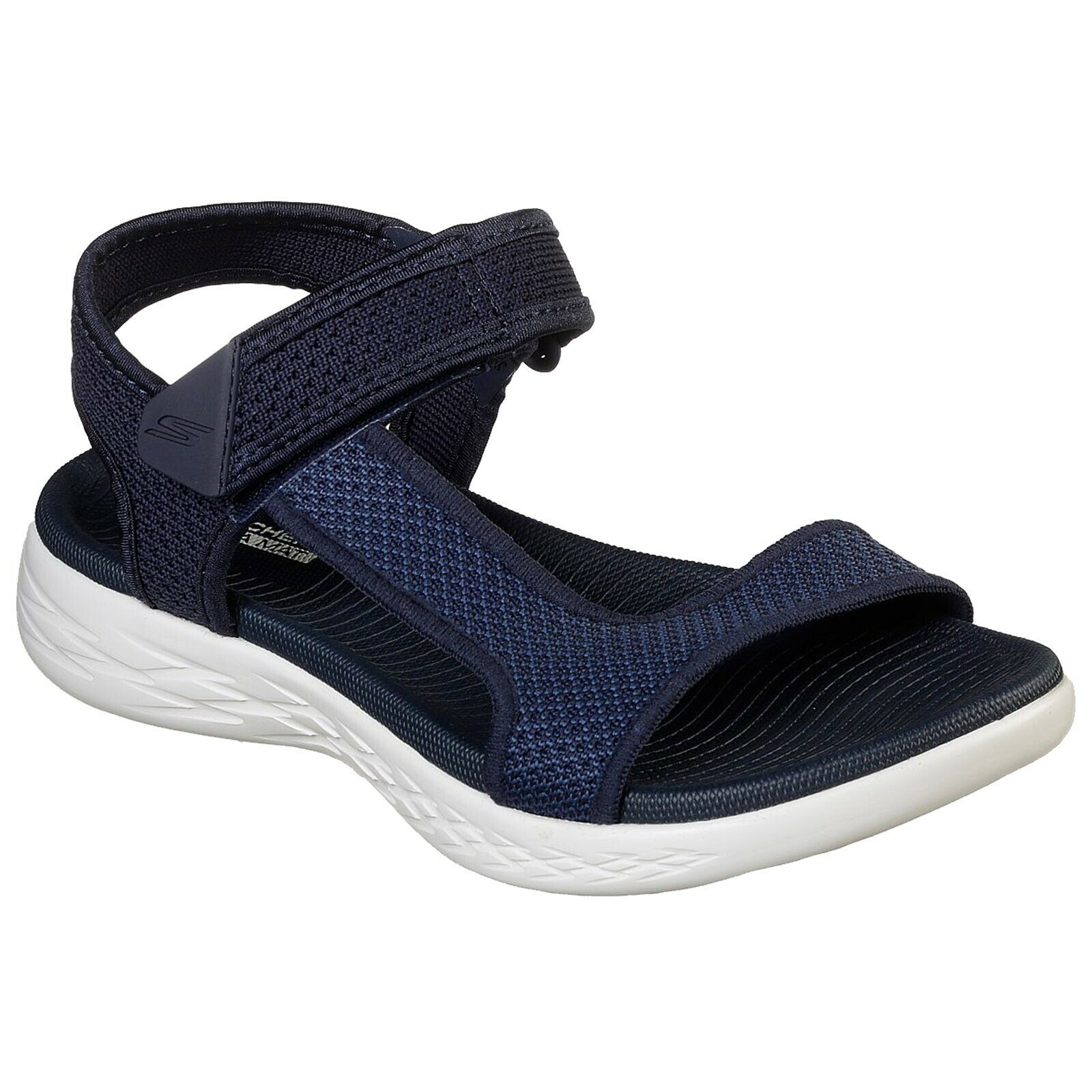 Details about LADIES SKECHERS ON THE GO 600 RUBIX NAVYWHITE STRAPPY SANDALS 16176NVW