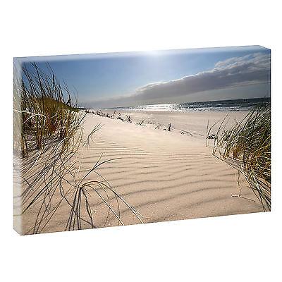 Wandbild Bild Strand Meer Dünen Nordsee Leinwand  Poster XXL 120 cm*80 cm 619