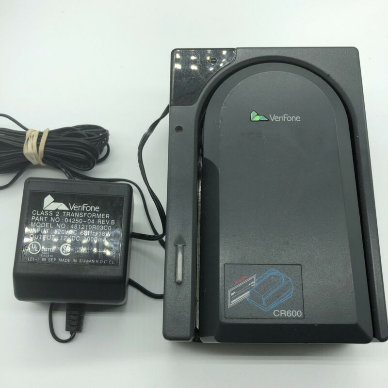 VeriFone CR600 Check Reader with Power Supply 04250
