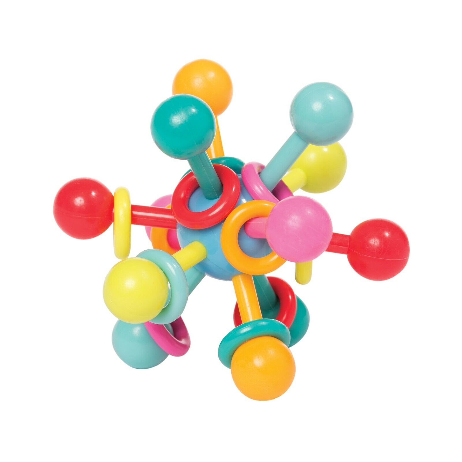 Manhattan Toy Atom Rattle & Teether Grasping Activity Baby T