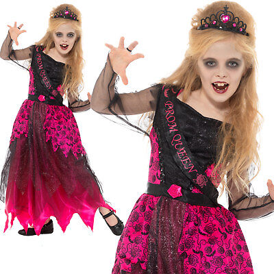 Deluxe Gothic Prom Queen Costume Halloween Girls Childrens - Gothic Prom Queen Halloween Kostüm