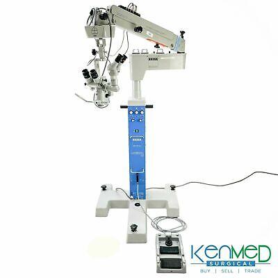 Zeiss Opmi 6-sfr Eye Microscope W Xy Assistant Binoculars S3 Base Foot Pedal
