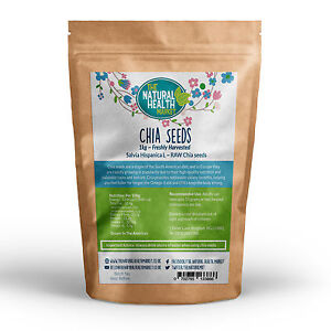 Chia Seeds 1kg • Natural Weight Loss & Detox With Raw Whole Chia • Free Delivery