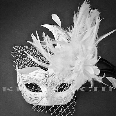 New Netting Brocade Lace Feather Masquerade Costume Prom Wedding Masks (Prom Masks)