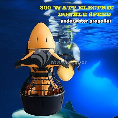 300W Electric Sea Scooter Dual Speed Underwater Propeller Diving Pool Scooter#US