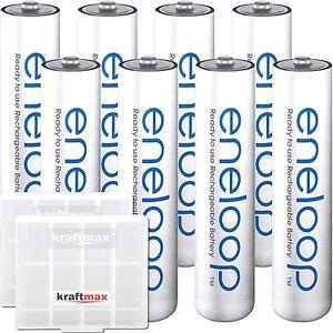 8 eneloop Micro AAA Akkus in Box - Panasonic Akku Batterien - NEUESTE VERSION