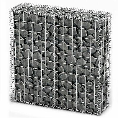Gabion Basket Wall with Lids Galvanized Wire 100 x 100 x 30 cm M8H6